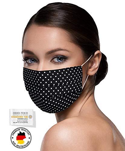 Unisex Stoffmasken Mundschutz Maske Stoff 100% Baumwolle Mund Nasen Schutzmaske mit Motiv Mund und Nasenschutz...
