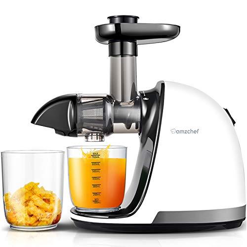 AMZCHEF Slow Juicer BPA-frei Entsafter Gemüse und Obst Profi Entsafter mit Ruhiger Motor & Umkehrfunktion &...