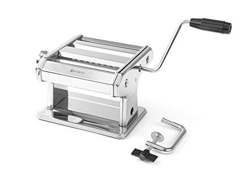 HENDI Pastamaschine, Manuell, für die Zubereitung von frischer pasta, Teigroller, Tagliatelle, Fettucine,...