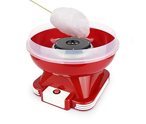 Leogreen - Elektrische Zuckerwattemaschine, Zuckerwatte Maker, Rot, Material: PP, Zuckertyp: Kristallzucker