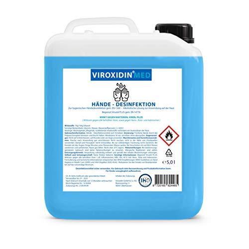 Viroxidin Med Desinfektionsmittel für Hände 5l - Zur hygienischen Händedesinfektion - Begrenzt Viruzid PLUS...