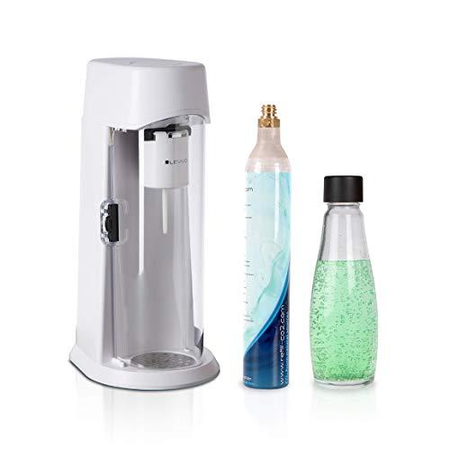 Levivo Wassersprudler Juice Inkl. 0,6l Glasflasche Und 60l Co2-Zylinder, Sprudelt Säfte, Softdrinks Und Jedes...
