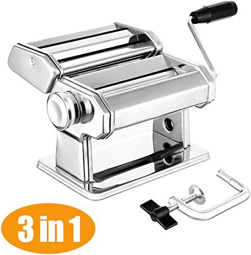 Elegant Life Nudelmaschine Pasta Maker Deluxe Set, Robust Hausgemachte Nudelmaschine mit 7 Dickeneinstellungen...