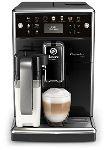 Saeco PicoBaristo Deluxe SM5570/10 Kaffeevollautomat, 12 Kaffeespezialitäten (integriertes Milchsystem, LED...