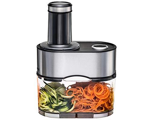 ROMMELSBACHER Spiralschneider EGS 80 - 5 Messereinsätze für verschiedene Gemüsenudeln, 2,5 Liter...