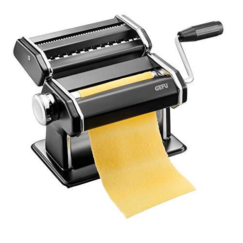 GEFU 89426 Pastamaschine Pasta PERFETTA schwarz matt, italienische Nudelmaschine für Lasagne, Tagliolini und...