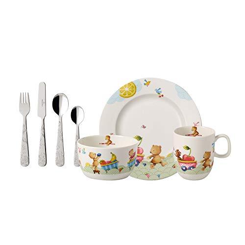 Villeroy & Boch - Hungry as a Bear Kinder-Tafelbesteck, 7 tlg., Premium Porzellan/Edelstahl,...