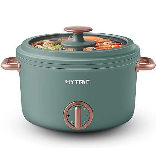 Hytric Elektrische Hot Pot, 2,5l tragbare Antihaft elektrische Topf, elektrischer Multikocher mit doppelter...