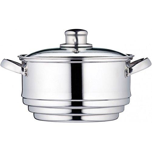 KitchenCraft Universaleinsatz für Dampfgarer in Geschenkbox, Edelstahl, Passt auf Pfannen mit einem...