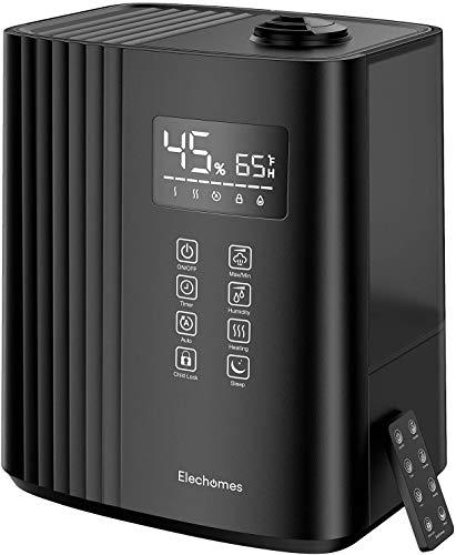 Elechomes 6.5L Top-Fill Ultraschall Luftbefeuchter, Warmer und Kühler Nebel für Schlafzimmer mit...