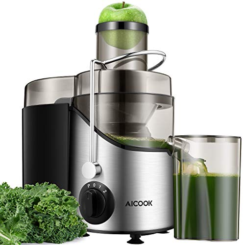 Entsafter Gemüse und Obst, 75MM Große Einfüllöffnung Zentrifugaler Entsafter mit 2 Geschwindigkeiten,...