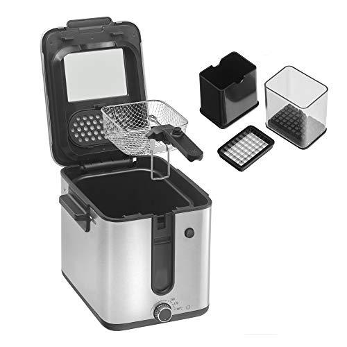 WMF Küchenminis Mini Friteuse mit Fett/ Öl, Fritteuse mit Kartoffelschneider, 1000 W, herausnehmbarer...