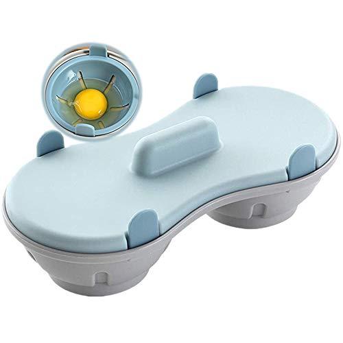 Bugucat Eier Pochierer durch Mikrowellen, Eierkocher Eierdampfer Kochgeschirr Schnell gedämpfte Eier Box...