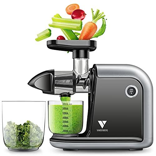 Vandenberg Slow Juicer - Leiser Entsafter für alle Gemüse und Obst Sorten - [150 W] Vitaminschonende...