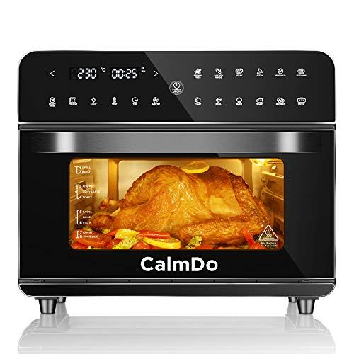 CalmDo Heißluftfritteuse 25L extra groß Fritteuse Air Fryer, Airfryer Backofen mit 12 Programme,1800W...