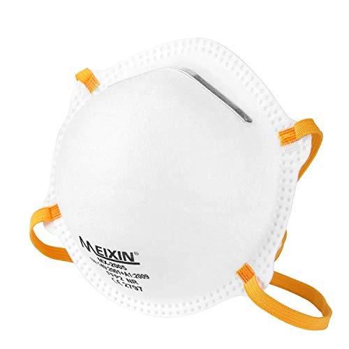 Meixin Atemschutzmaske FFP2 im 5er Set mit CE-Zertifikat – Hochwertige Atemmaske – Anpassbare Staubmaske...