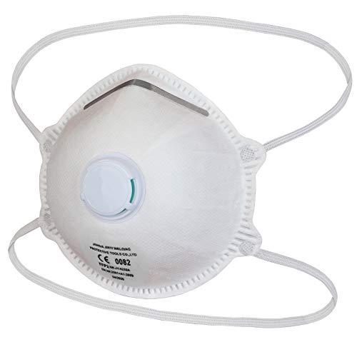 ALPIDEX Mundschutz FFP2 Maske mit Ventil, verstellbarer Nasenclip Atemschutzmaske Mund- und Nasenschutz...