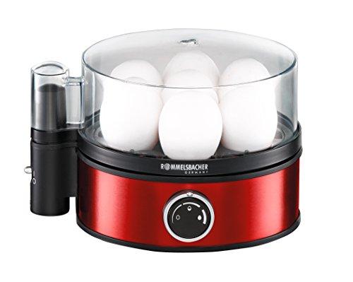 ROMMELSBACHER Eierkocher ER 405/R - für 1-7 Eier, einstellbarer Härtegrad, elektronische...