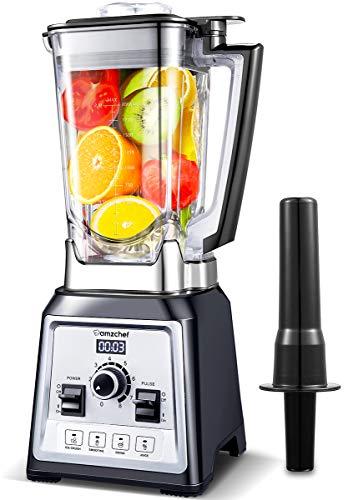 Standmixer Smoothie Maker, AMZCHEF 2000W Smoothie Blender, Standmixer Hochleistung(25,000 U/min,4...