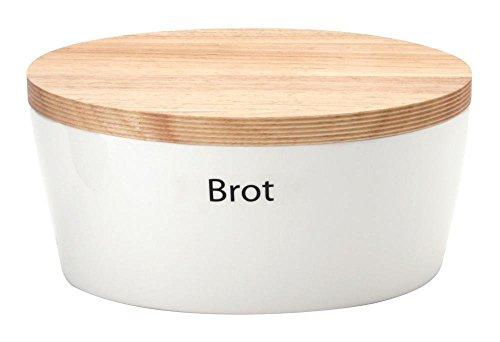 440s.de Brottopf aus Keramik mit Holzdeckel, ca. 30 x 23 x 13,5 cm   CON-03930000