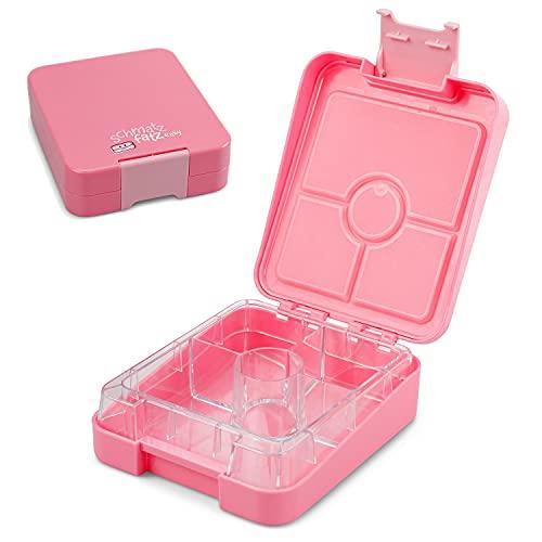 schmatzfatz Easy Kinder Snackbox, Bento Box mit unterteilten Fächern, Lunchbox (Rosa)