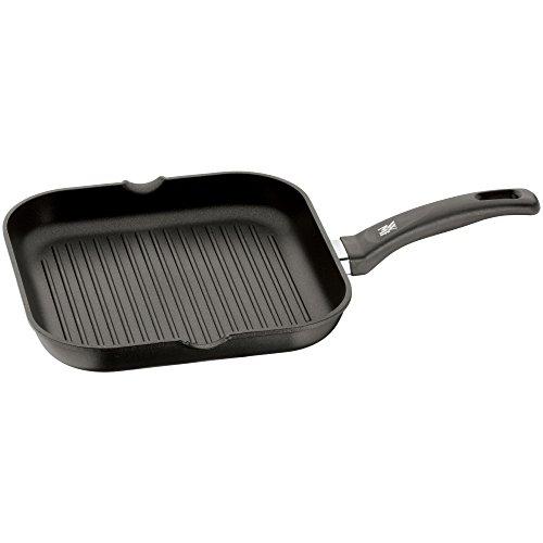 WMF Grillpfanne 27x27 cm mit Ausguss, Aluminium beschichtet, Steakpfanne ideal zum knusprigen Braten, eckige...