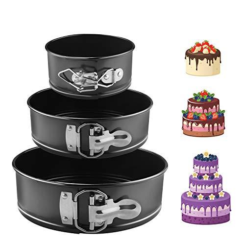EKKONG Kuchenform Rund Inspiration Springform Cake Pans Runde Backform mit Flachboden Kuchenformen...