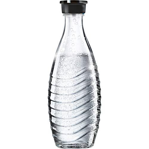 SodaStream 0,615L Glaskaraffe spülmaschinenfest mit fest schließendem Deckel für Wassersprudler wie Crystal...