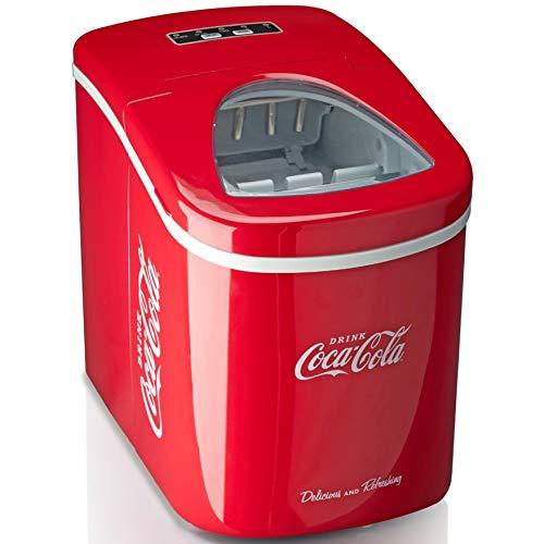 Salco Coca-Cola Eiswürfelmaschine SEB-14CC, Rot, Eiswürfel in 8-13 Minuten, mit Flaschenöffner COCA-COLA