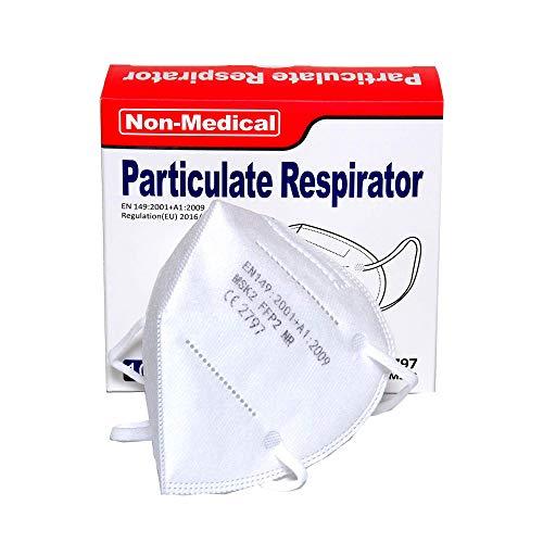 ISN mask2 - FFP2 / KN 95 Atemschutzmaske, staubdicht, einzeln verpackt - Atmungsaktive 5-Lagen-Maske...