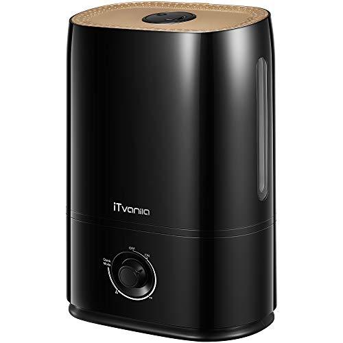 iTvanila Ultraschall Luftbefeuchter Schlafzimmer, 5L Luftbefeuchter mit kühlem Nebel, 40 Stunden...