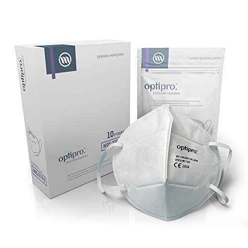 OptiPro Particulate Respirator (KN95 / FFP2) Gesichtsmaske - Vlies-Mehrschichtsystem mit hoher...