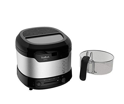 Tefal FF215D Uno M Fritteuse (1600 Watt, Kapazität: 1 kg, einstellbares Thermostat, Sichtfenster,...