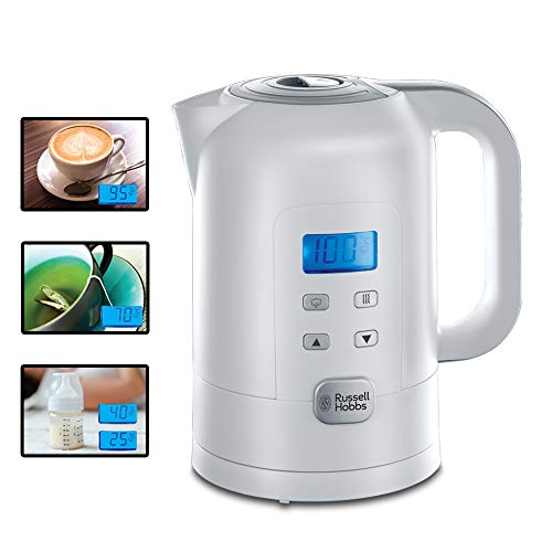 Russell Hobbs Wasserkocher Precision, 1,7l, 2200W, digitale Temperatureinstellung & LCD Anzeige, 25°-100°C...