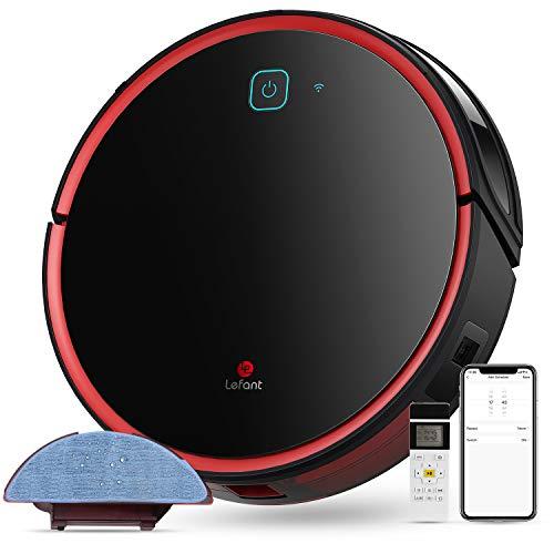LEFANT Saugroboter mit Wischfunktion,2200Pa WLAN Staubsauger Roboter,Kompatibel mit Alexa und...