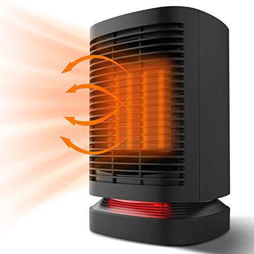 Heizlüfter - Elektroheizung Heizung Energiesparend Heizluefter Heizkörper Mini Heizstrahler mit Oszillation...