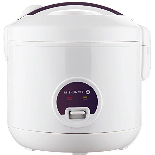 Reishunger Reiskocher und Dampfgarer mit Warmhaltefunktion - Multikocher mit Dämpfeinsatz, Löffel und...