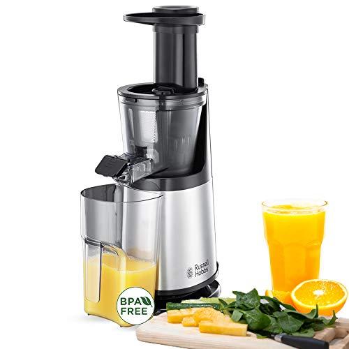 Russell Hobbs 25170-56 Slow-Juicer (Entsafter für Obst und Gemüse, 3 Siebeinsätze (fein, grob und gefrorene...