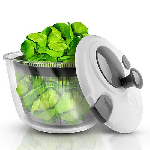 LACARI Kitchen & More Premium Salatschleuder   [3,1] Liter Fassungsvolumen   Salatschüssel mit Deckel  ...