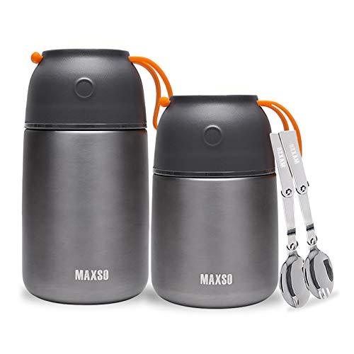 XIAPIA Thermobehälter 500 & 700ml | Edelstahl Warmhaltebebehälter für Essen, Speißen, Babynahrung, Suppe,...