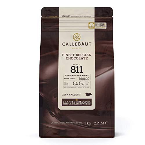 CALLEBAUT Receipe No. 811 - Kuvertüre Callets, Zartbitterschokolade, 54,5% Kakao, 1x 1000 G