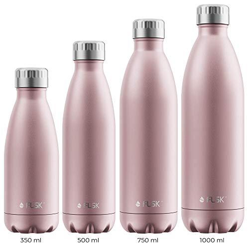 FLSK Das Original New Edition Edelstahl Trinkflasche – Kohlensäure geeignet | Die Isolierflasche hält 18...