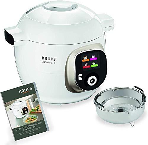 Krups Cook4Me+ Multikocher CZ7101   inkl. Rezeptbuch   6L Kapazität   Elektrischer Schnellkochtopf   150...