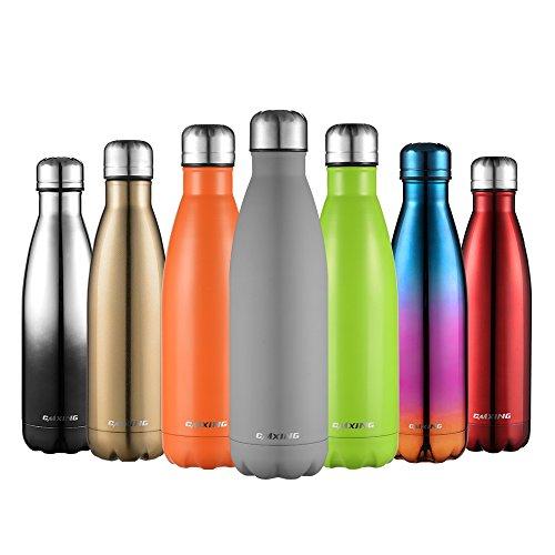 cmxing Doppelwandige Thermosflasche 500 mL / 750 mL mit Tasche BPA-Frei Edelstahl Trinkflasche Vakuum...