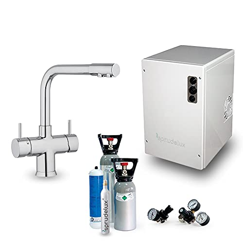 Untertisch-Trinkwassersystem SPRUDELUX® Power Soda ohne Filtereinheit inklusive 5-Wege-Armatur NOBIUS...