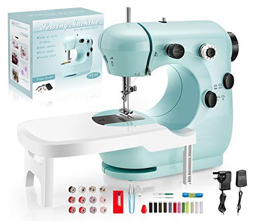 LDALAX Nähmaschine Anfänger für Kinder, Tragbare Nähmaschine mit Fußpedal DIY Materialien elektrische...
