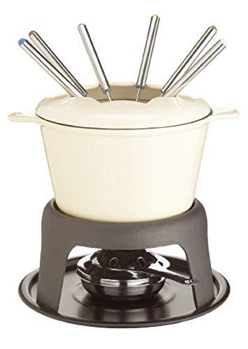 Kitchen Craft MasterClass Fleisch-/Käse-/Schokoladen-Fondue-Set aus Gusseisen, mit Sechs Edelstahlgabeln, 21...