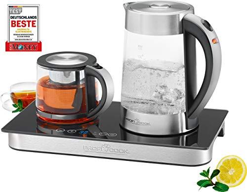 ProfiCook PC-TKS 1056, 3in1 Glas-Wasserkocher, Tee- & Kaffeestation in Einem, Edelstahlgehäuse,...