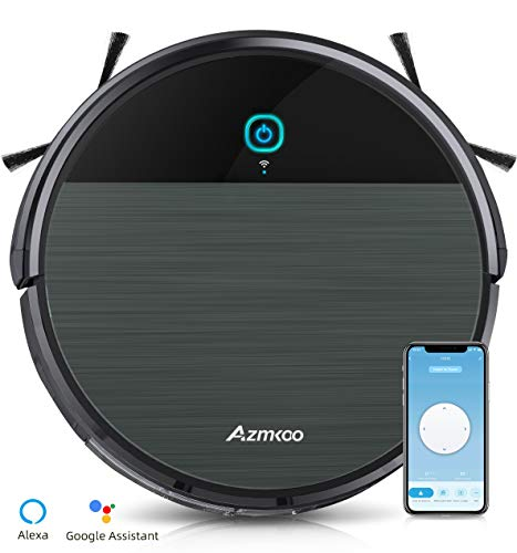 Azmkoo Vacuum Cleaner, Robot Vacuum Cleaner, Robot Compatible with App / Alexa, Wiping Function for Vacuum...