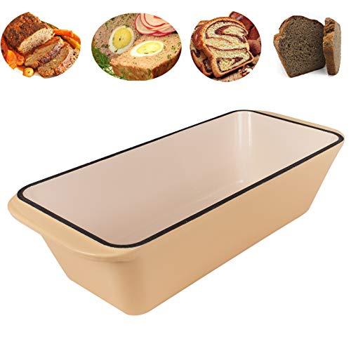 WEES-CK emaillierte Gusseisen Kastenform - Brotbackform, Königskuchenform, Auflaufform, Bräter (Kirschrot)